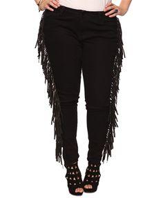 Fringed Skinny Jeans - StyleSays