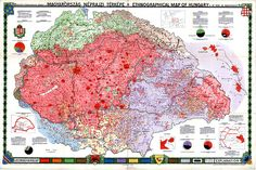 Browse Hungary's detailed ethnographic map made for the Treaty of Trianon online Star Chart, Old Maps, Nose Art, European History, Folk Music, Historical Maps, Military History, Vintage World Maps, Diagram