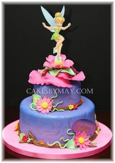 Tinkerbell Cake - My sister would love this!