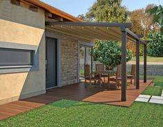 Etonnant Patio Awnings Fitted Attached To Home For Backyard Patio Space With Cool  Flooring Ideas
