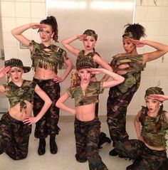 """Chloe Lukasiak, Brooke Hyland, Paige Hyland, Kendall Vertes, Nia Frazier, and Maddie Ziegler in """"Don't Ask, Just Tell"""""""