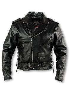 Save $ 34.94 order now Interstate Leather Men's Classic Riding Jacket (Siz