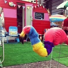 This yarn bomb's for you @enticingicing we miss you! @BrisStyle Craft Caravan #yarnbombing by edwardandlilly, via Flickr