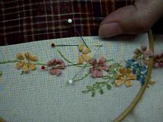 ▶ Ribbon Embroidery緞帶刺繡Loop stitch - YouTube