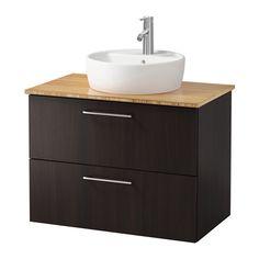 GODMORGON/ALDERN / TÖRNVIKEN Meuble lavabo av lavabo à poser 45 IKEA