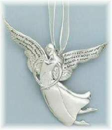 Serenity Angel Ornament ''House a Home''  ''Bless this family with love and laughter, health and happiness. Keep us safe under your guardian's wings and make this house a home.'