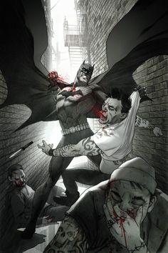 Geek Art: Batman Brutally Beats Street Thugs - News - GeekTyrant Comic Book Characters, Comic Character, Comic Books Art, Comic Art, Marvel Comics, Hq Marvel, Batgirl, Heros Film, Nananana Batman