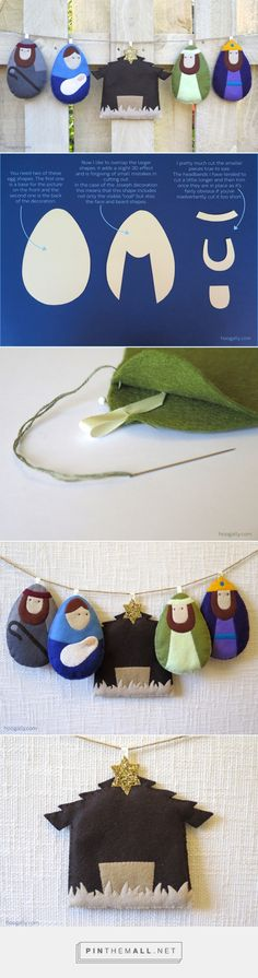 Nativity Bunting Tutorial   Hoogally.com... - a grouped images picture - Pin Them All