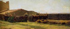 Giuseppe Abbati - La casa di Diego Martelli a Castiglioncello 1862