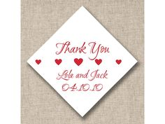 Heartfelt Favor Wedding Favor Tags (available in other colors) | #exclusivelyweddings | #redwedding