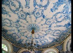 Looks like a china plate. Nymphenburg Palace in Munich.