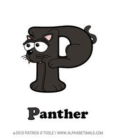 Panther - Alphabetimals make learning the ABC's easier and more fun! http://www.alphabetimals.com