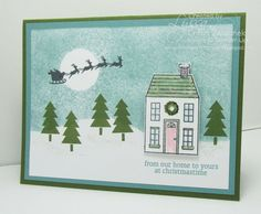 Sleigh in the Night Sky cards