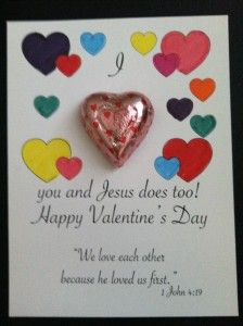 jesus loves you valentine card | Kids Craft: Valentine Cards | HOOKED ON THE BOOK