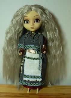 Doll in ancient Finnish style costume