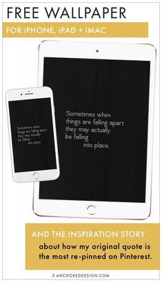 Apple Device Wallpaper – Sometimes When Things Fall Apart… Imac Wallpaper, Free Iphone Wallpaper, Apple Wallpaper, Iphone Wallpapers, Wallpaper Backgrounds, Watercolor Floral Wallpaper, When Things Fall Apart, Option Quotes, Monthly Quotes