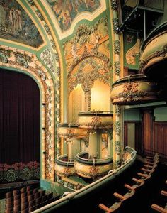 "danismm: ""The New Amsterdam Art Nouveau interior on West 42nd Street, designed by Henry Herts and Hugh Tallant in 1903 """