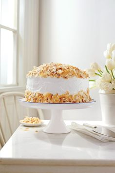 These spring desserts are a tasteful final touch for any celebration, from Easter to potlucks. Satisfy your sweet tooth with everything from cupcake and cake recipes to tarts and pies. Best Coconut Cake Recipe, Coconut Pound Cakes, Coconut Desserts, Coconut Recipes, Coconut Frosting, Mini Cakes, Cupcake Cakes, Bundt Cakes, Easter Cake Easy