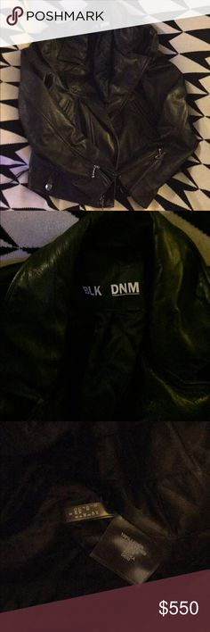 Blk dnm leather jacket Moto 4 Rare BLK DNM Jackets & Coats