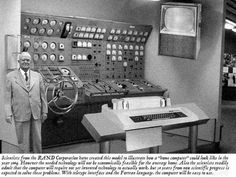 """Home Computer"" of 2004 from Rand in 1950s.  I think they missed the scale of the equipment and power a little with this prediction."