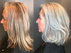 Makeup Tips, Hair Makeup, Grey Hair Don't Care, Going Gray, 50 Shades Of Grey, Aging Gracefully, About Hair, Salt And Pepper, Cool Hairstyles