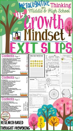 This packet provides 45 exit tickets to assess and reinforce your growth mindset program. Some are flexible enough to use as bell-ringers, mini-lessons, brain breaks – or whatever you might need. Others are clearly set as exit tickets. The packet is also saved as a PowerPoint file (except for the emoji exit slips), so you can customize and edit to fit your students' needs.