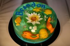 Gelatin Art Underwater Gelatin Theme - Another delicious and beautiful 100% gluten free gelatin from http://www.thejellolady.com