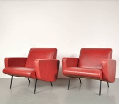 Joseph André Motte; Lounge Chairs for Steiner,1950s.