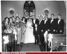 Wedding party, Dec. 22, 1962.