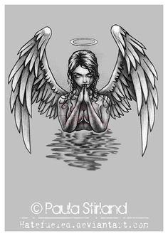 dark tattoo designs dark angels design angel tattoos and body art ...