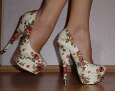 I used to have some extra pointy toed shoes like these. Platforms are WAY better.