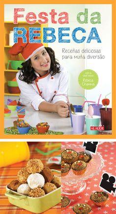 """Nossa colaboradora Sheila Mustafá que é nutricionista participou da segundo livro da pequena chef Rebeca Chamma e achamos que a publicação é um ótimo presente para as crianças que gostam de """"brincar na cozinha""""."""