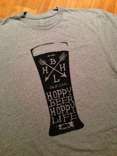 Pint Design - Hoppy Beer Hoppy Life Heather Gray and Black Shirt