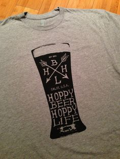 Pint Design - Hoppy Beer Hoppy Life Heather Gray and Black Shirt
