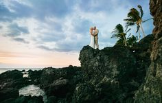 Nothing says Big Island like dramatic black lava and gorgeous beaches! Thanks James Rubio for these beautiful photos! This beautiful couple wanted a luxurious event at a reasonable price! That's why they came to us! They stayed at the beautiful Four Seasons Hualalai and were able to get ready there…
