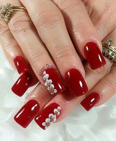 Xmas Nails, Red Nails, Christmas Nails, Hair And Nails, The Art Of Nails, Toe Nail Color, Finger Nail Art, French Nail Art, Sparkly Nails