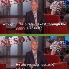 The pirate's alphabet: