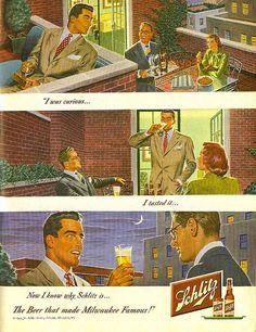 Schlitz ad - 1949 Look magazine