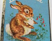 Vintage Little Golden Book      LIttle Cottontail     copyrighted 1960