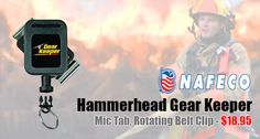 Hammerhead GearKeeper Mic Tab, Rotating Belt Clip Industrial: This compact device provides convenience and safety of mics for a host of applications.  It conveniently attaches any hand-held microphone to the belt of its user, providing instant access, fast stowage, and security against loss.