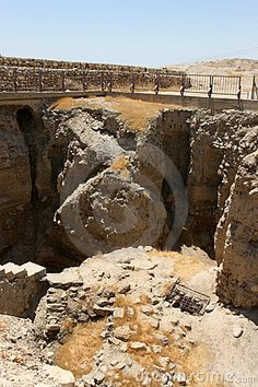 Ruins of ancient Jericho.  Jericho, ISRAEL.