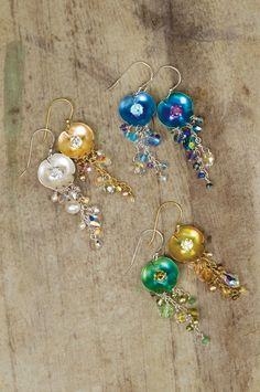 Holly Yashi - Lily Pad Drop Earrings http://www.marasheparddesignerjewelry.com