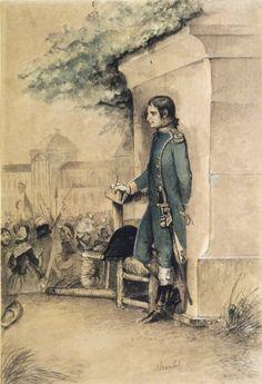 Nicolas-Toussaint Charlet: Bonaparte at the Tuileries (Bonaparte aux Tuileries) source