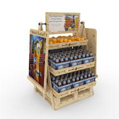 Desarrollo de mobiliario y material POP para promocionar llegada de cerveza Blue Moon a Chile.