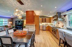 LOVE, LOVE, LOVE this home setup!! Brookfield midcentury modern interior remodel, home improvement