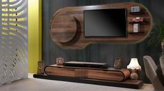 TV on wooden design. Wall Unit Designs, Living Room Tv Unit Designs, Tv Cabinet Design, Tv Wall Design, Tv Wanddekor, Modern Tv Wall Units, Tv Wall Decor, Inspiration Wall, Interiores Design