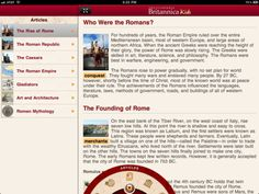 Learn History with Britannica Kids Ancient Rome Who Were The Romans, Roman Republic, History For Kids, Middle School, School Kids, Ancient Rome, Upper Elementary, Very Well, Vocabulary