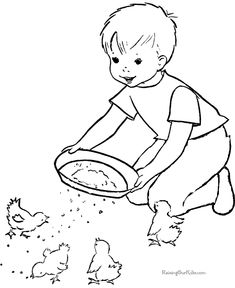 Free printable farm coloring page for kid