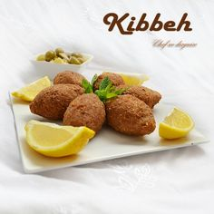 Kibbeh..must use lemon !