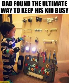To do: Dad found the ultimate way to keep his kid busy - wall with moving parts